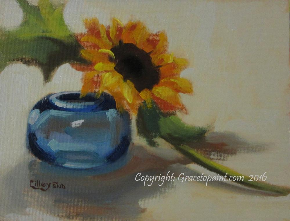 """Sunflower and Glass"" original fine art by Maresa Lilley"