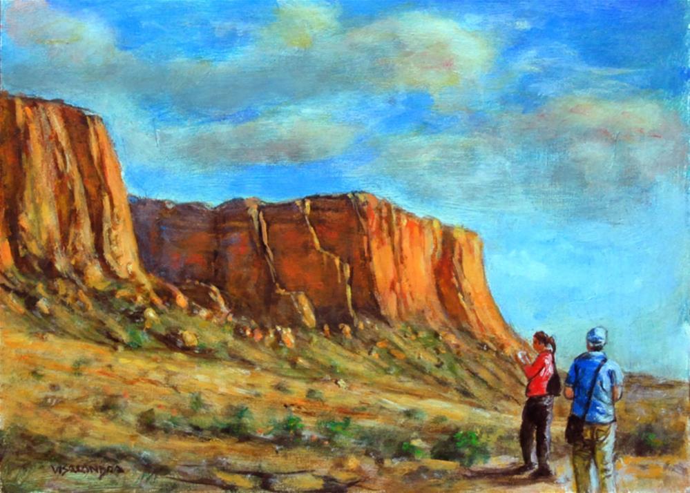 """""""Arizona tourists 1"""" original fine art by vishalandra dakur"""