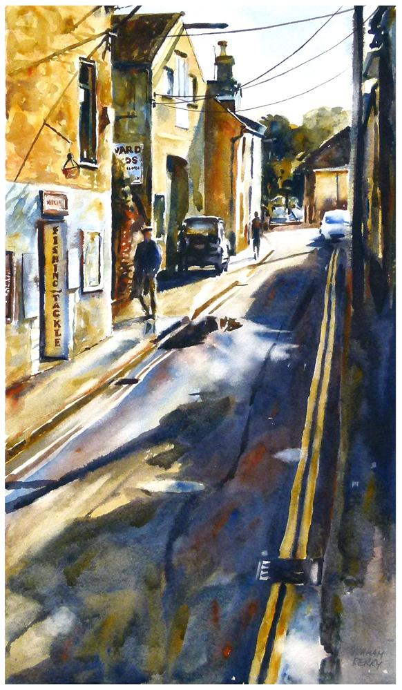 """Island st, Salcombe."" original fine art by Graham Berry"