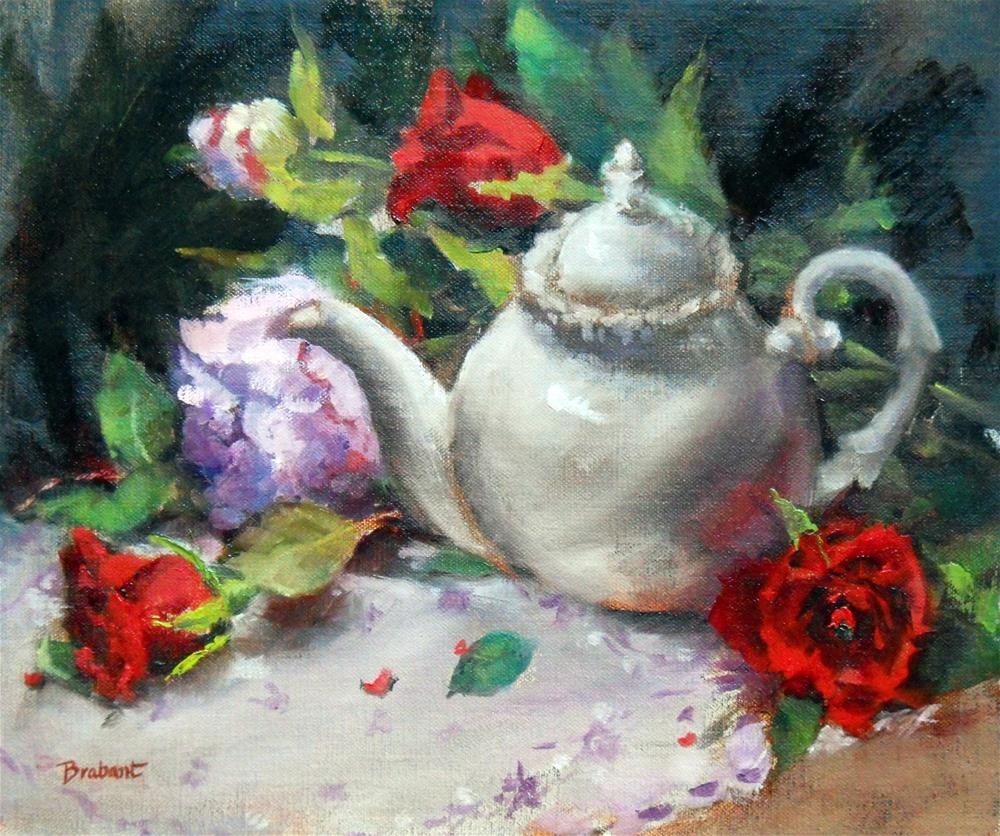 """The White Teapot"" original fine art by Jill Brabant"