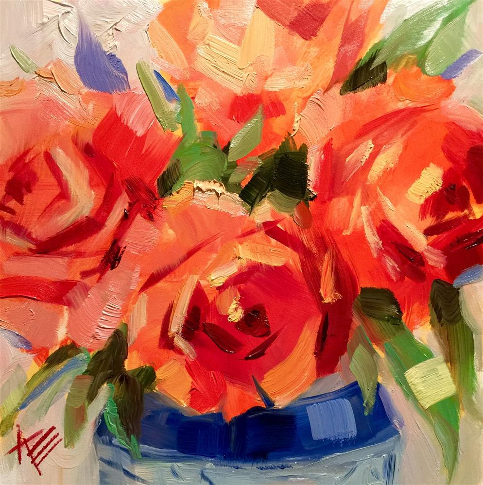 """Octoberfest Roses"" original fine art by Krista Eaton"