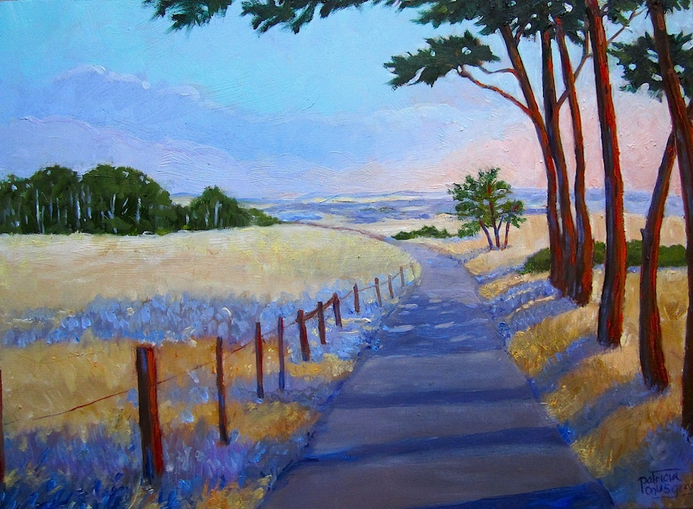 """Table Bluff Road"" original fine art by Patricia Musgrave"