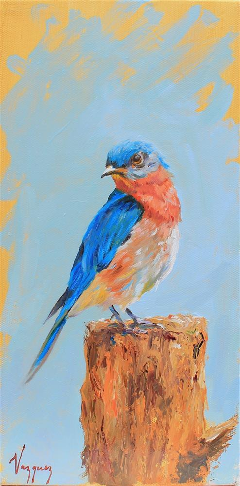 """Bluebird"" original fine art by Marco Vazquez"