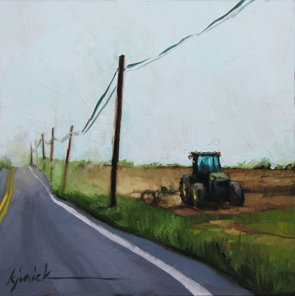 """Dirty Deed"" original fine art by Karin Jurick"