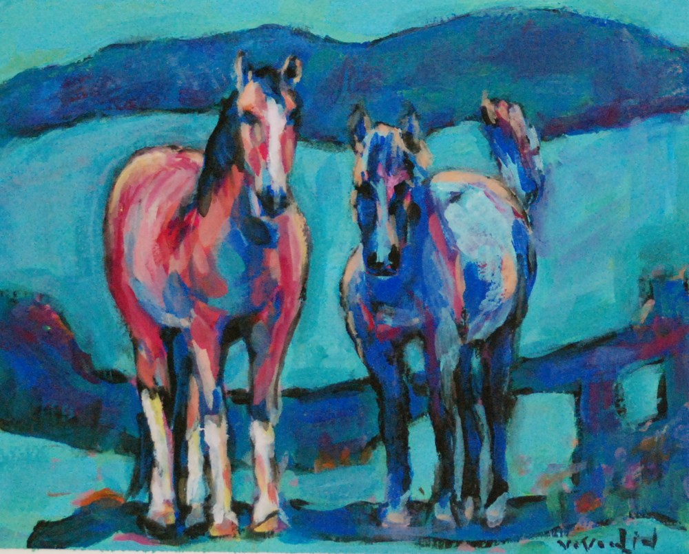 """its all about the tail!"" original fine art by Vicki Wood"