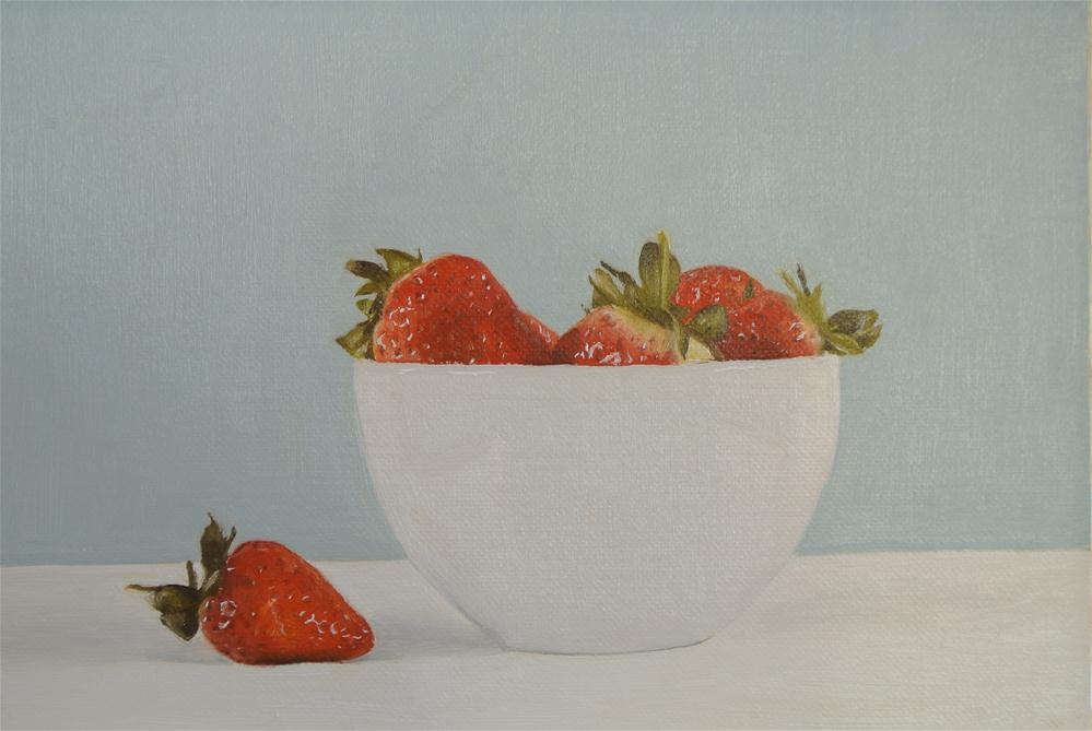 """Bowl of Strawberries"" original fine art by James Coates"