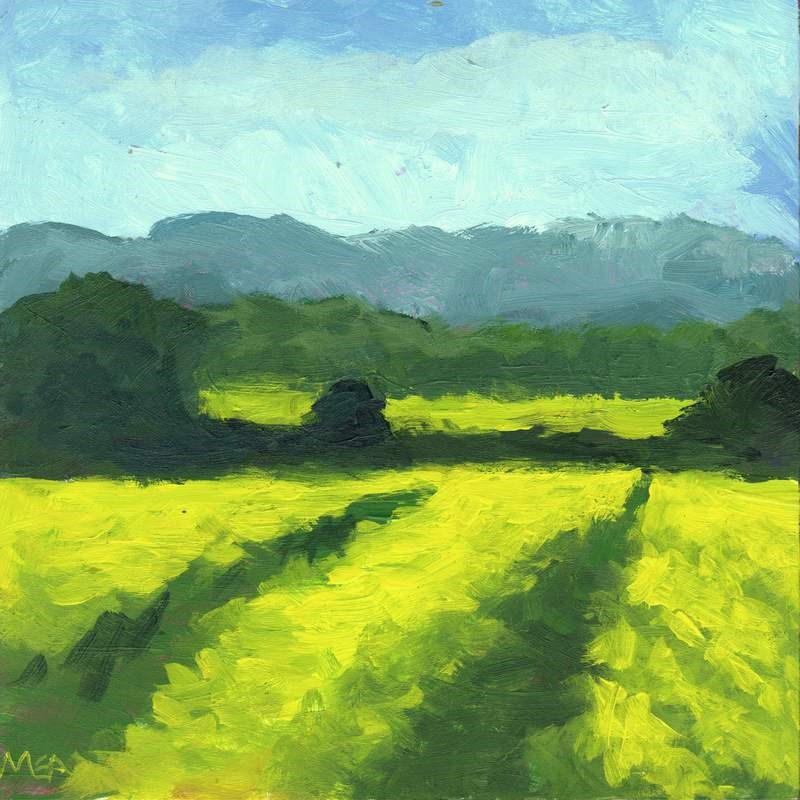"""Painted Fields"" original fine art by Meredith Adler"