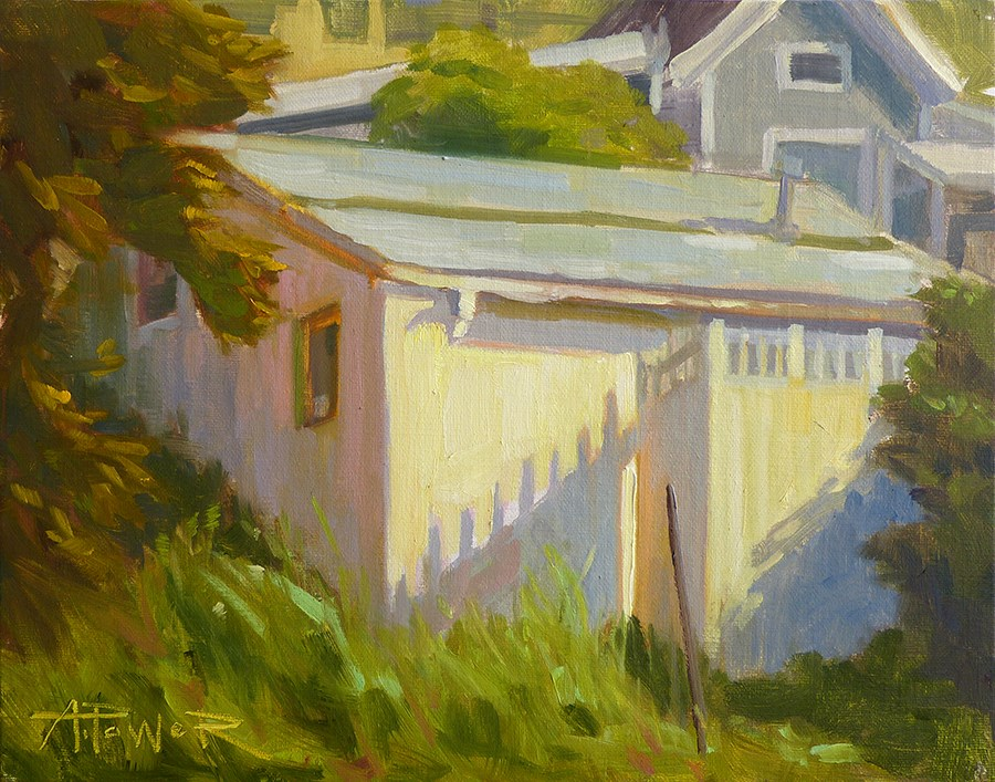 """Summerland Roofs"" original fine art by Anette Power"
