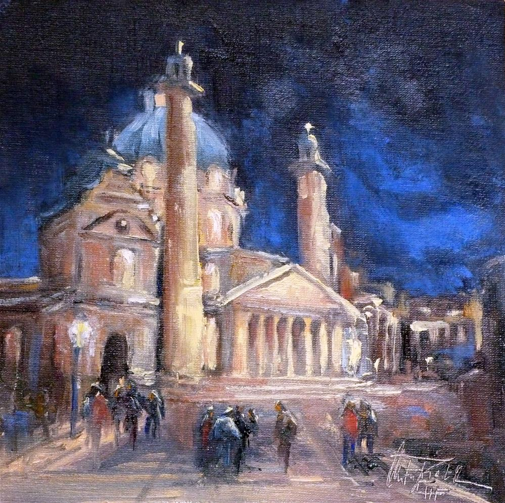 """St. Charles's Church  Vienna – Karlskirche Wien"" original fine art by Christa Friedl"