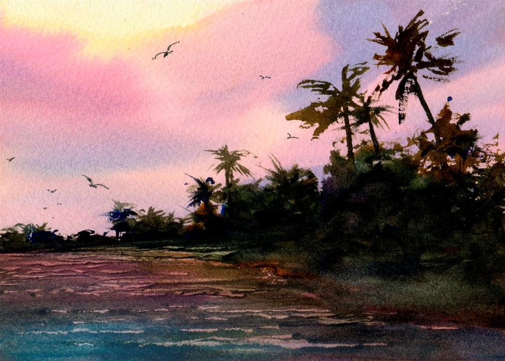 """Sunrise in Paradise"" original fine art by Linda Henry"