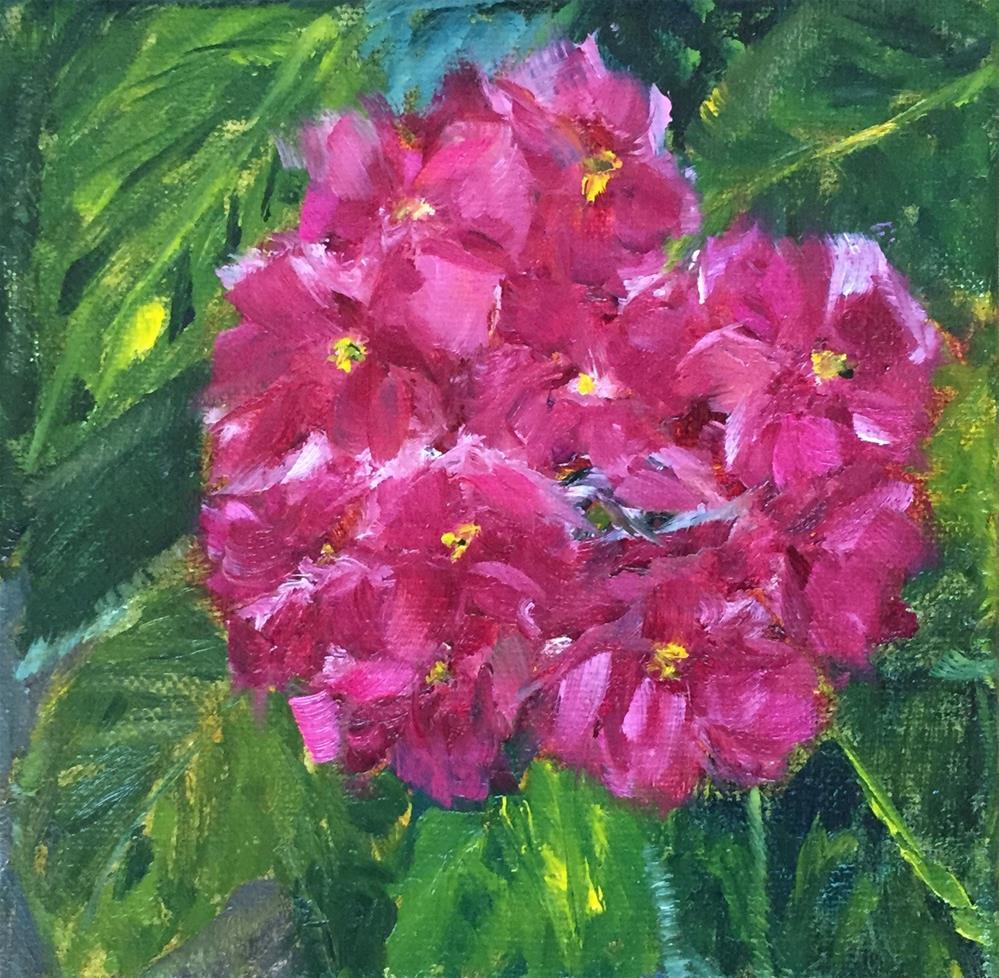 """Pink Swirl"" original fine art by Renee Robison"