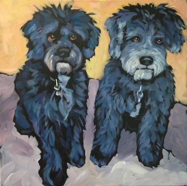 """Tilly and Ella"" original fine art by Kat Corrigan"