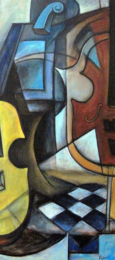 """Musique 2"" original fine art by Valerie Vescovi"