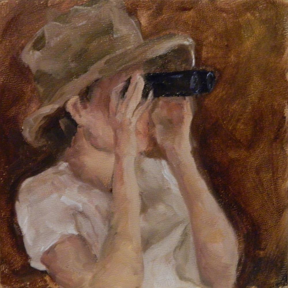 """Binoculars"" original fine art by Debra Shore"