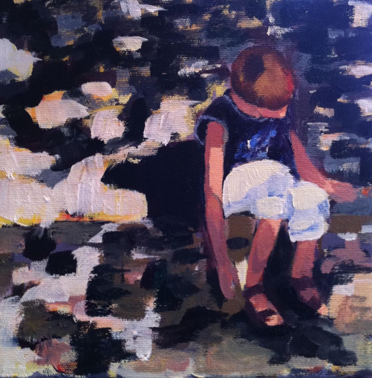 """""""Gabriel"""" original fine art by Karen D'angeac Mihm"""
