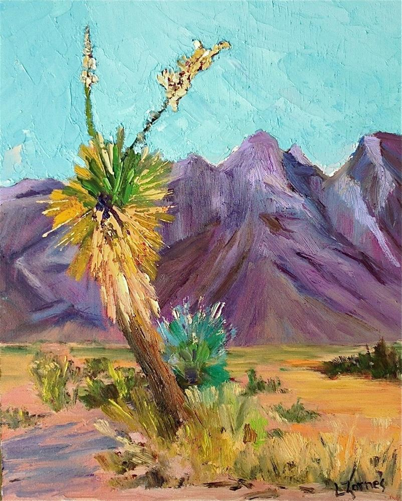"""Desert Yuccas"" original fine art by Liz Zornes"