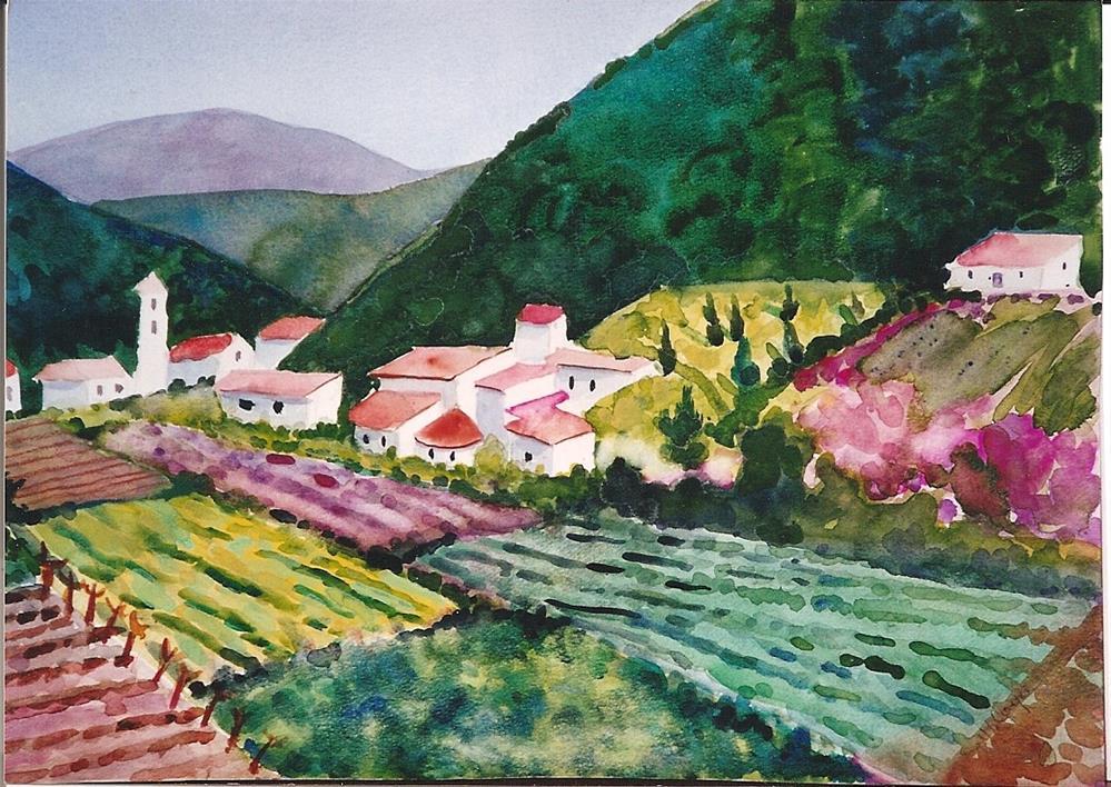 """""""France"""" original fine art by meribeth coyne"""