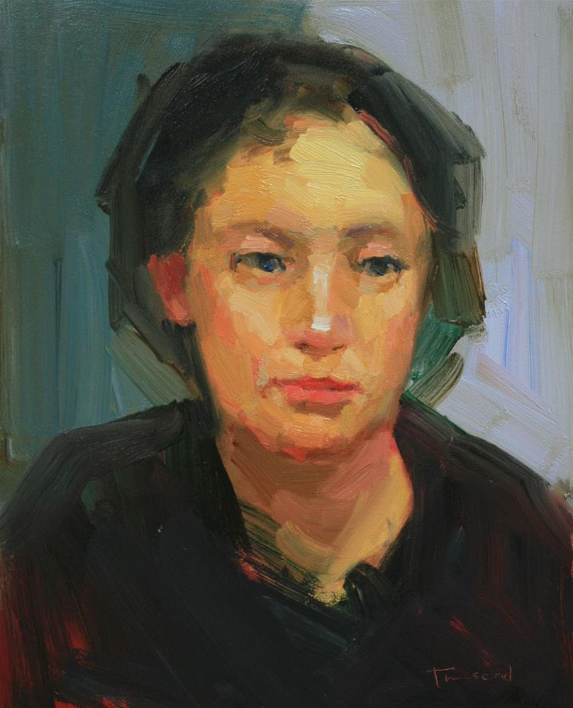 """Portrait Study #6"" original fine art by Kathryn Townsend"