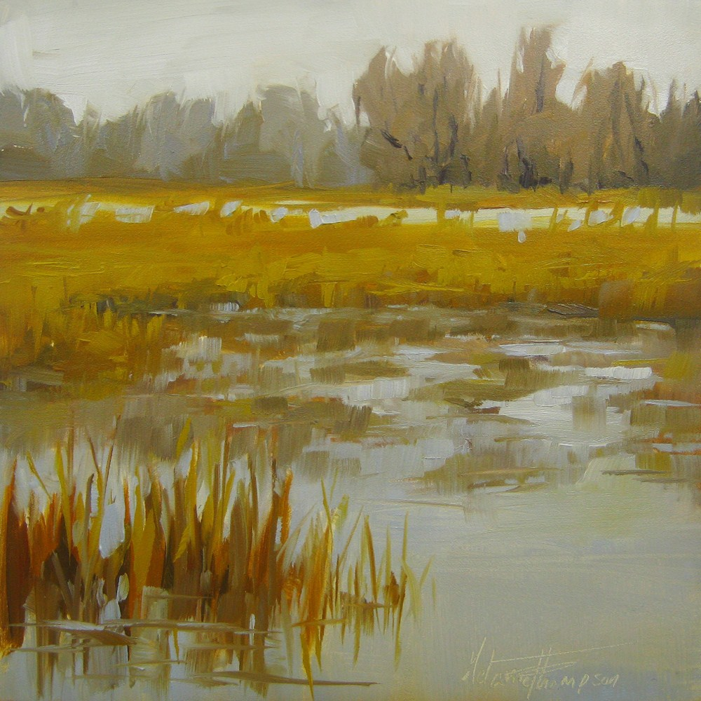 """Golden Winter"" original fine art by Melanie Thompson"