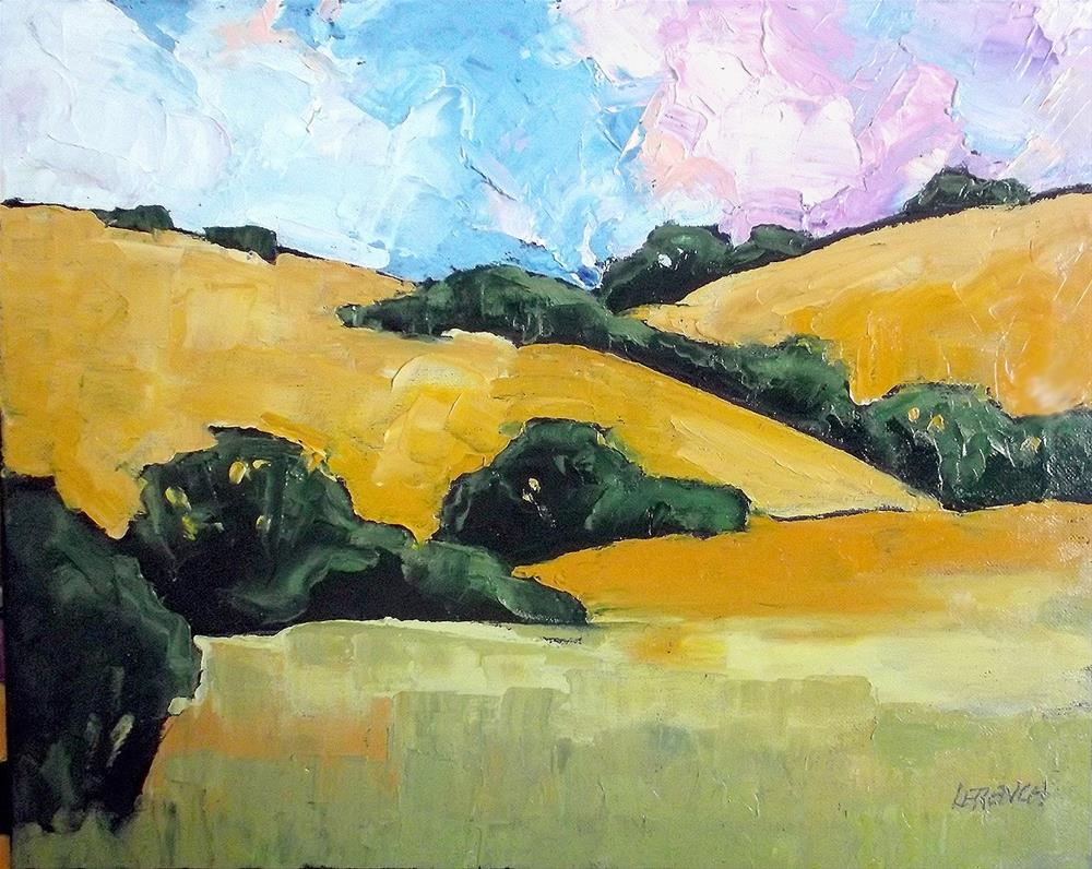 """Califorinia Paso Robles Hills"" original fine art by lynne french"