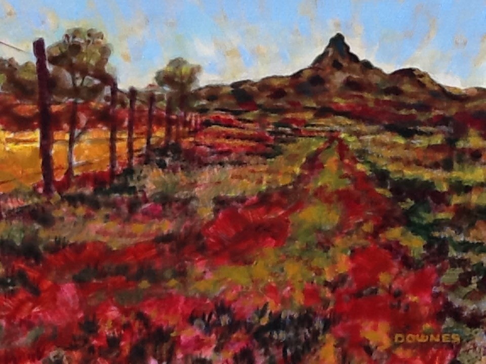 """012 MOUNT WARNING 5"" original fine art by Trevor Downes"