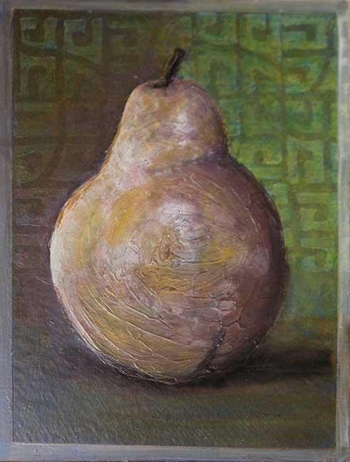 """Pear"" original fine art by Kara Butler English"