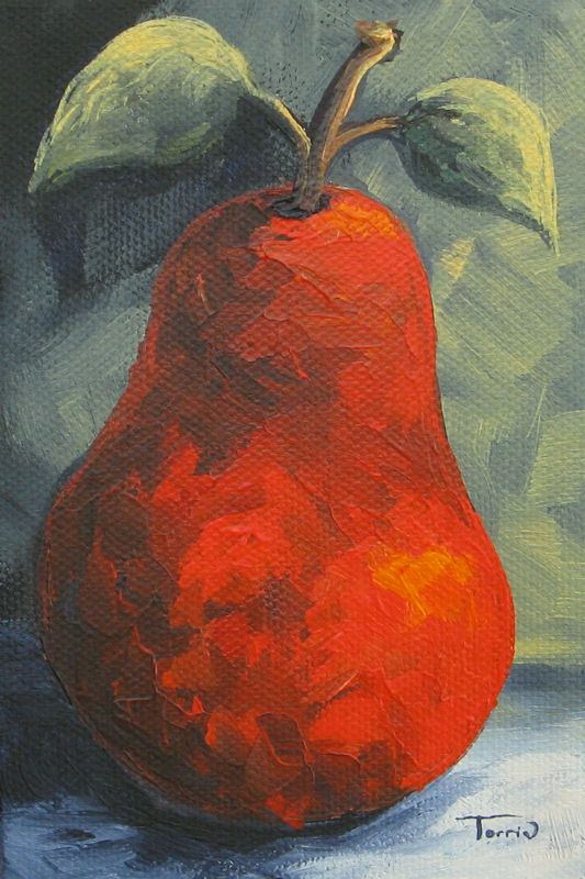 """""""The Pear Chronicles 015"""" original fine art by Torrie Smiley"""