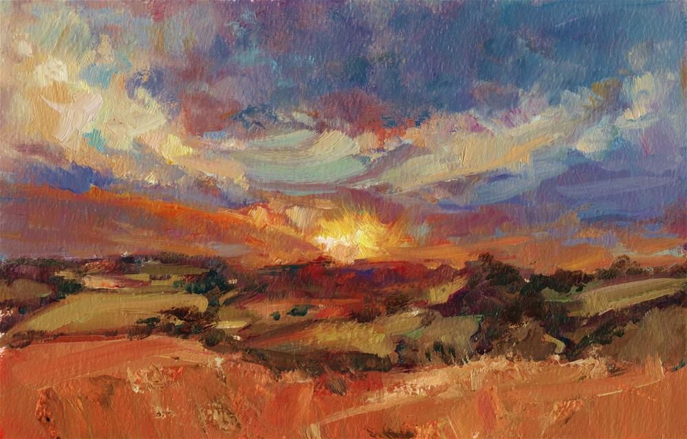 """Sunset, Bain Valley"" original fine art by Anne Wood"