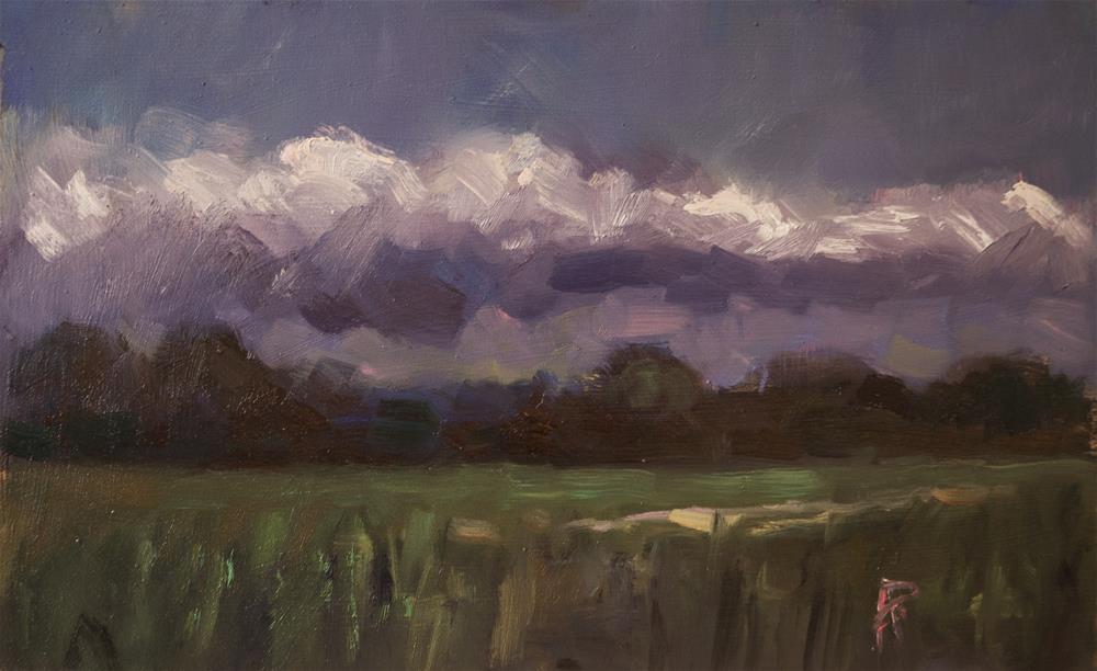 """Landscape with Dark Tones"" original fine art by Andre Pallat"