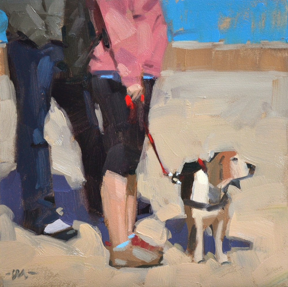 """Forced to Wait"" original fine art by Carol Marine"