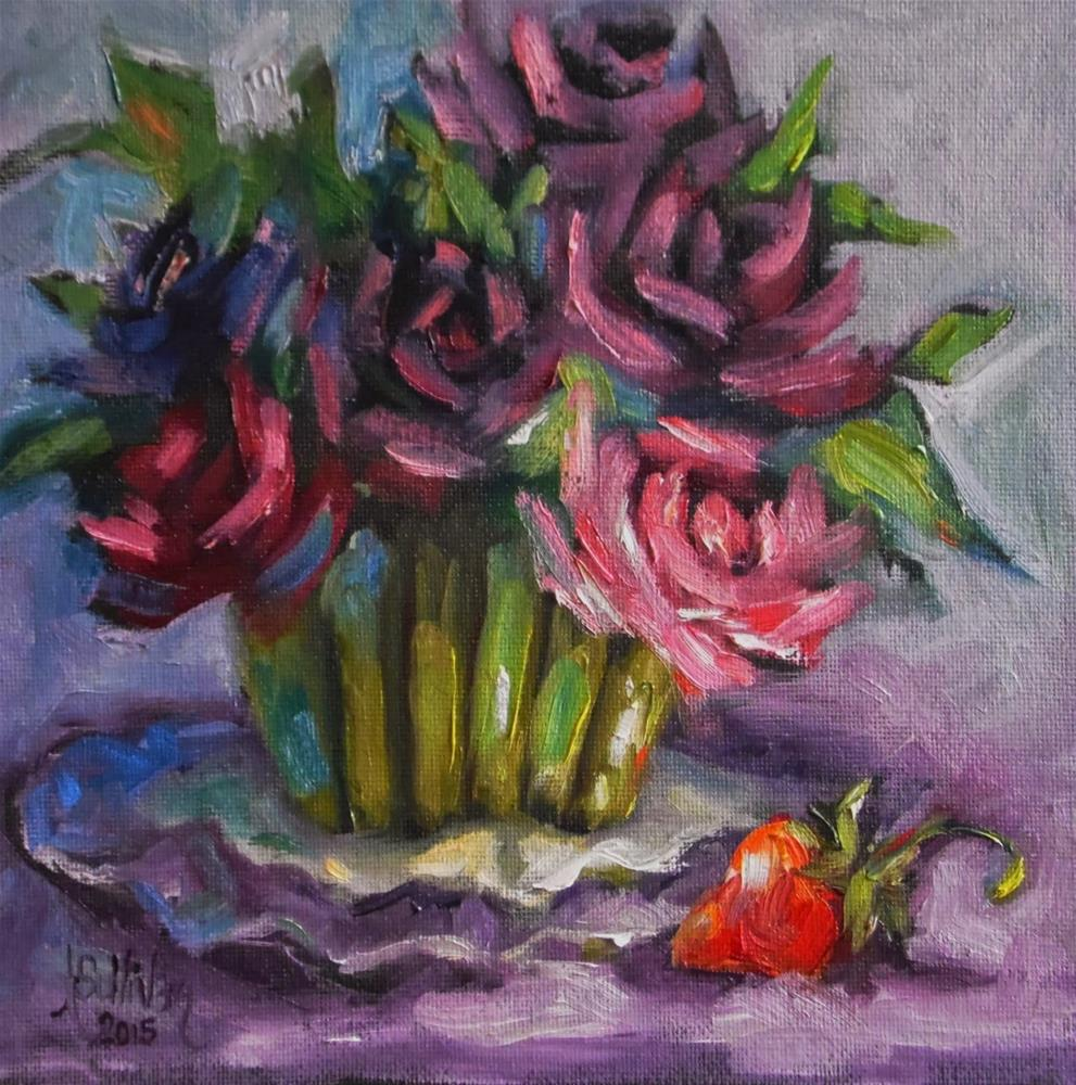 """It's A Berry Good Day still life painting by Alabama Artist Angela Sullivan"" original fine art by Angela Sullivan"