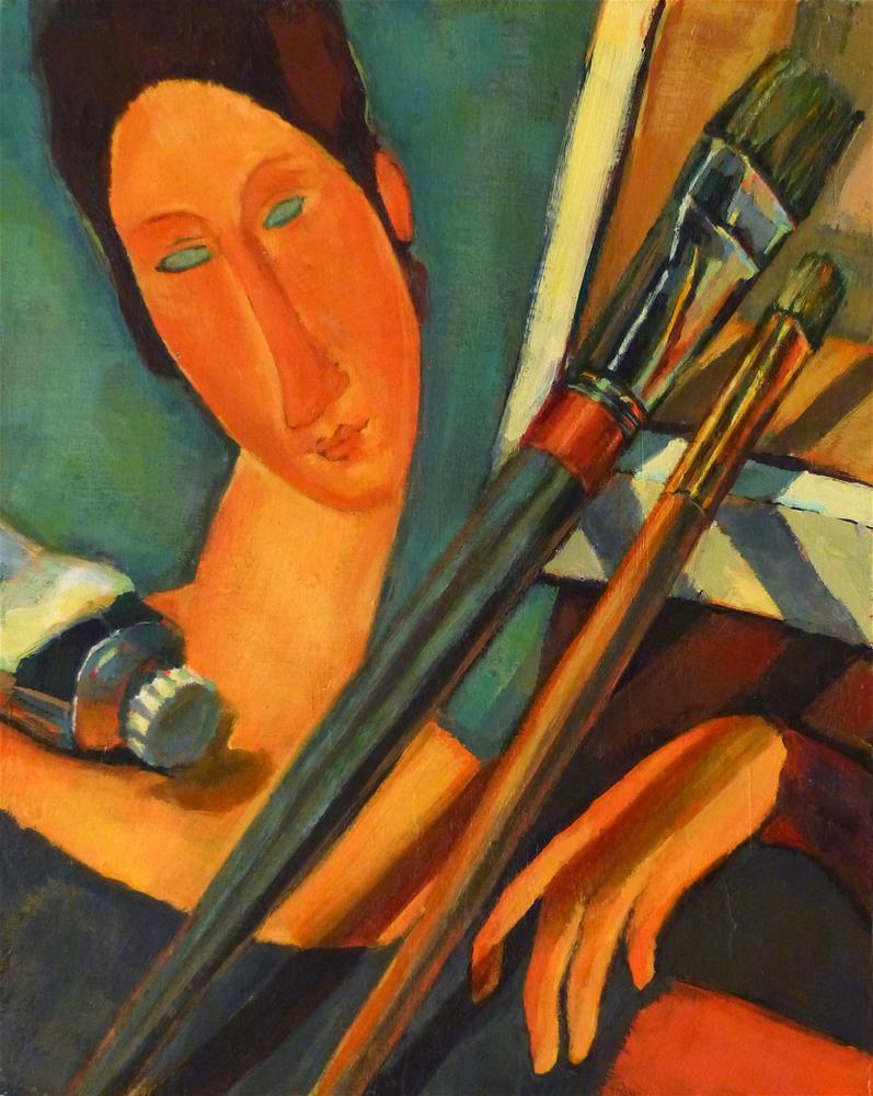 """Master Class with Jeanne"" original fine art by Katya Minkina"
