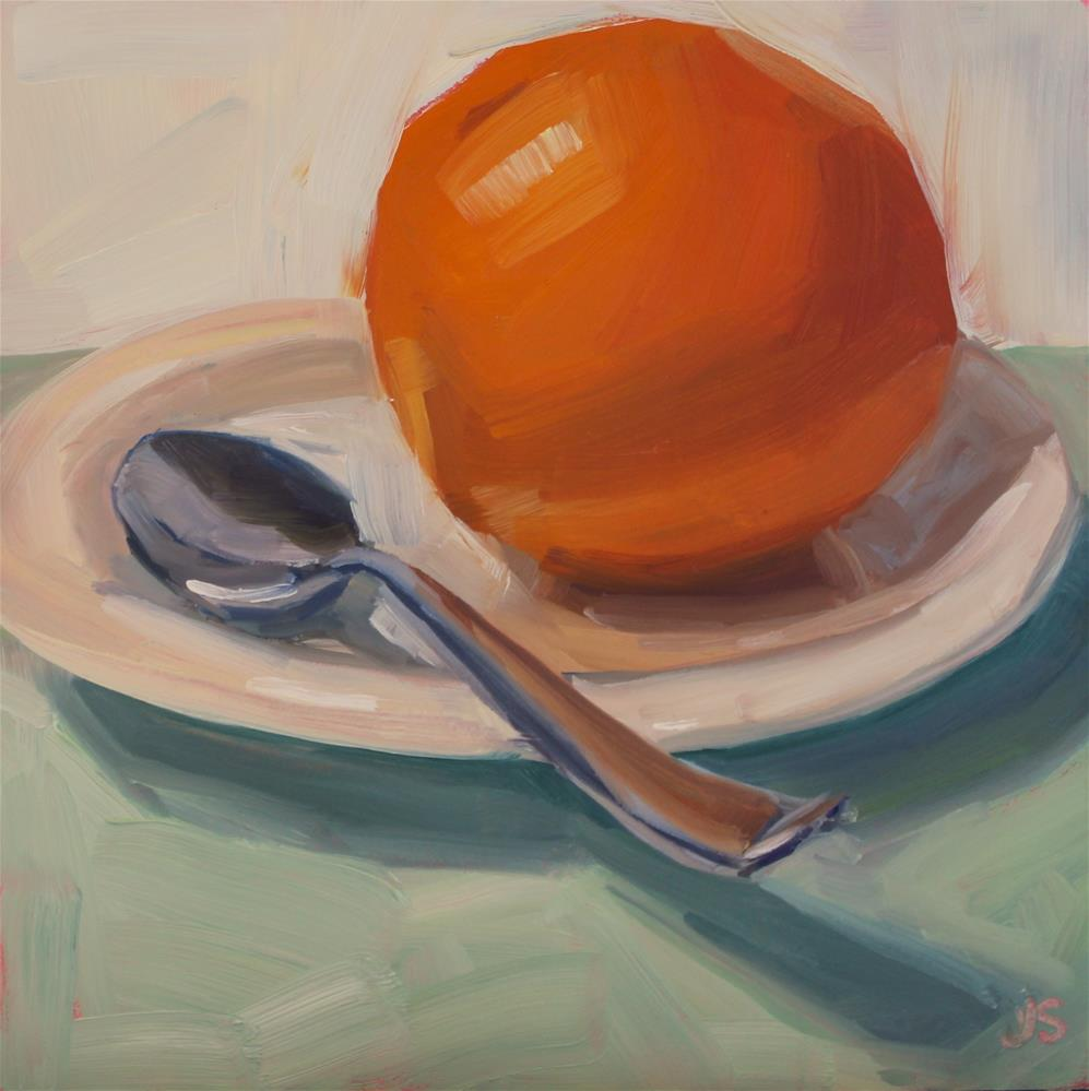 """Scooping Oranges"" original fine art by Jamie Stevens"