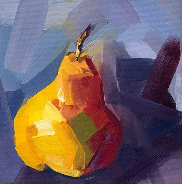 """October Pear"" original fine art by - JanettMarie"