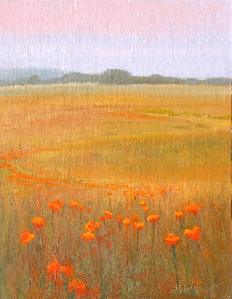 """#62 Poppy pathway"" original fine art by Nancy Wallace"