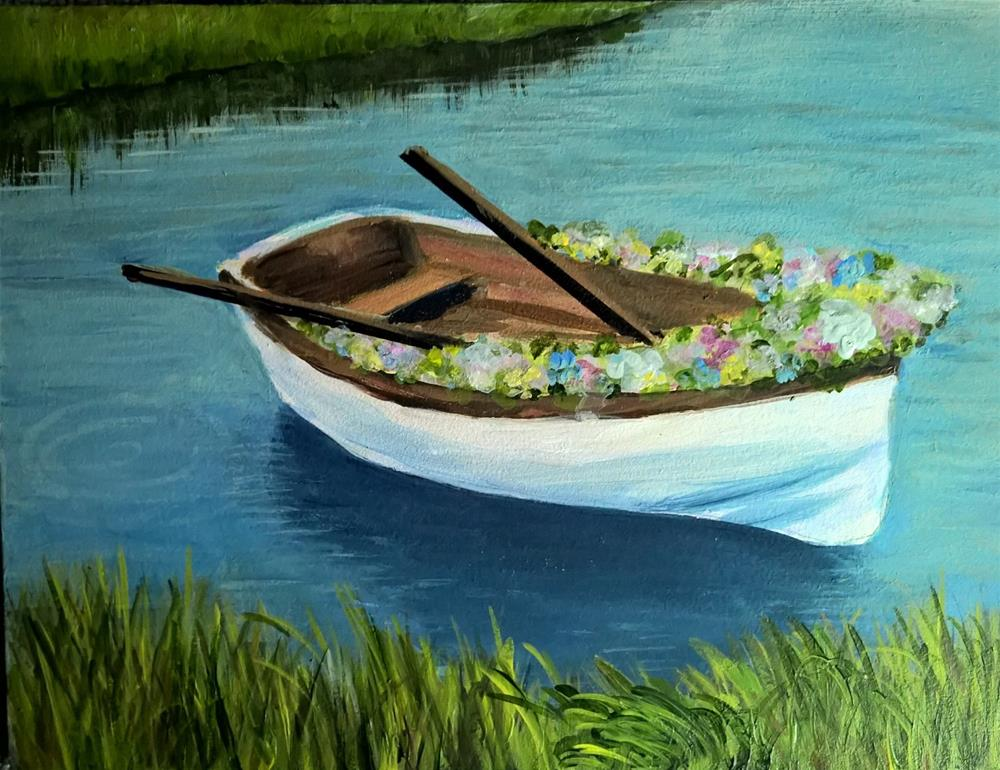 """Love Boat"" original fine art by Joan Matero"