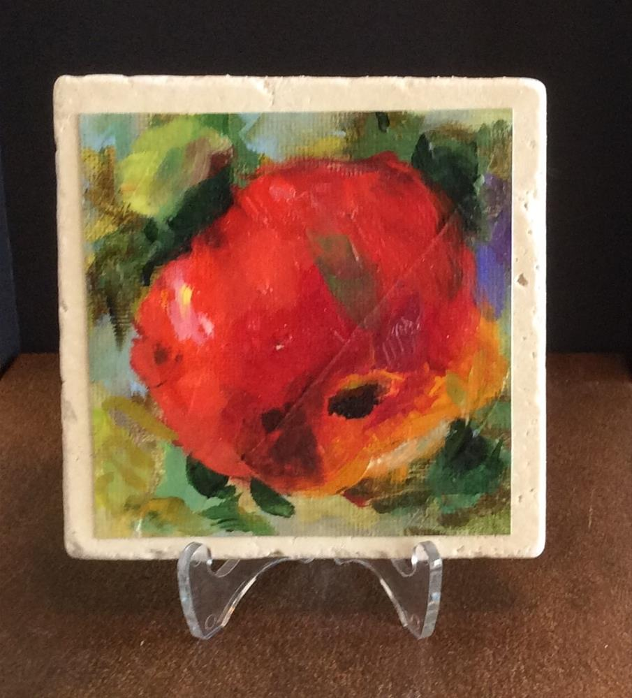 """Apple"" original fine art by Susie Monzingo"