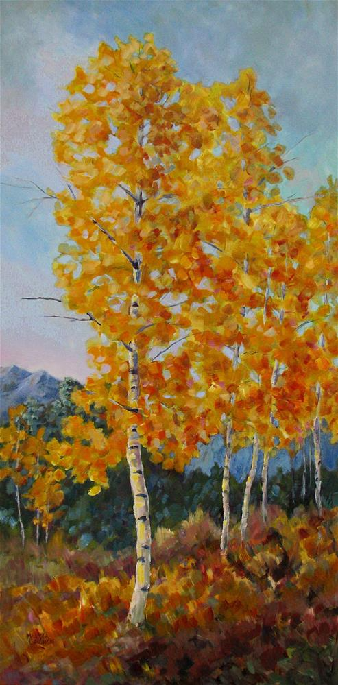 """Golds of Autumn"" original fine art by Melissa Gannon"