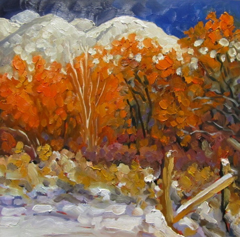 """El Salto Snow"" original fine art by Dee Sanchez"