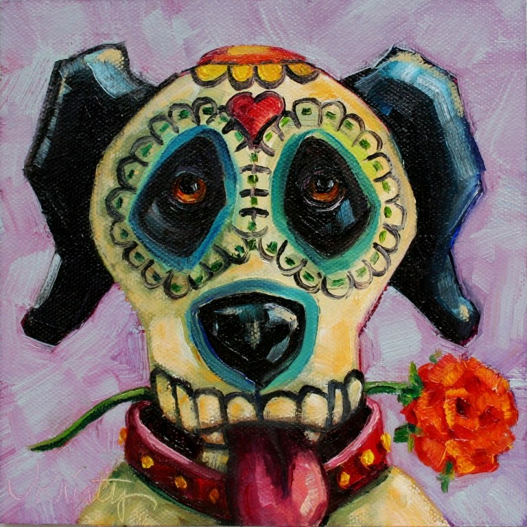 """DAY OF THE DOG"" original fine art by Kristy Tracy"