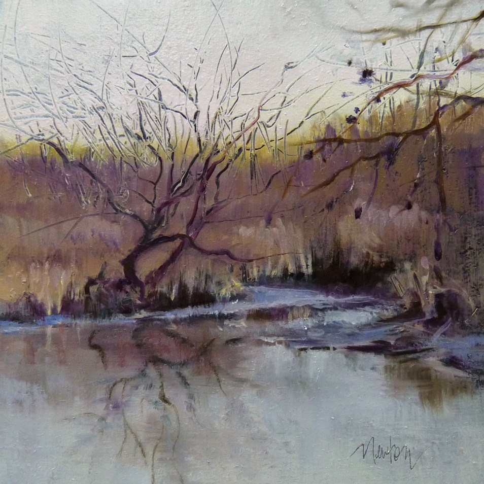 """Color Study-Arboretum Wetland"" original fine art by Barbara Benedetti Newton"
