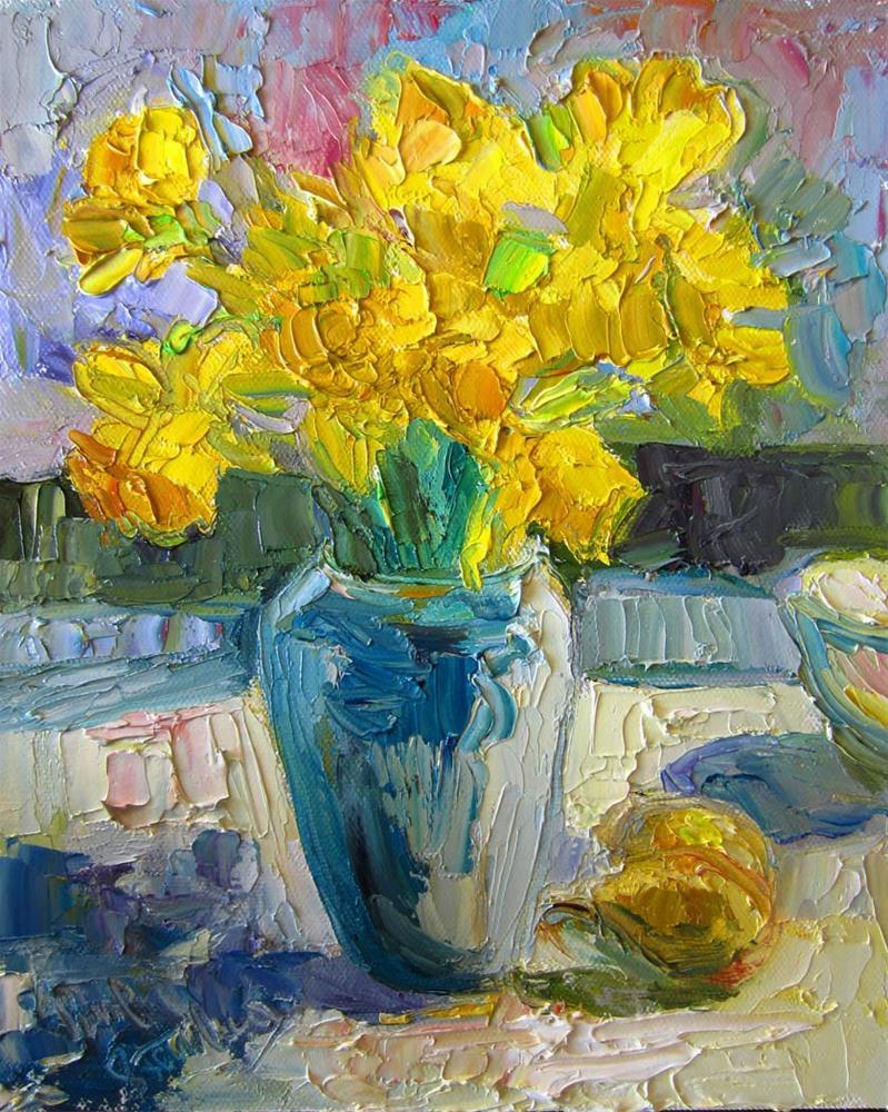 """Daffodils in the Sun 3"" original fine art by Carol Steinberg"