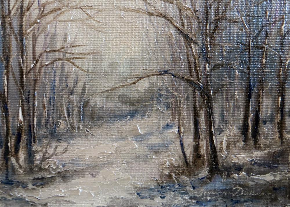 """Into the Winter Woods"" original fine art by Tammie Dickerson"