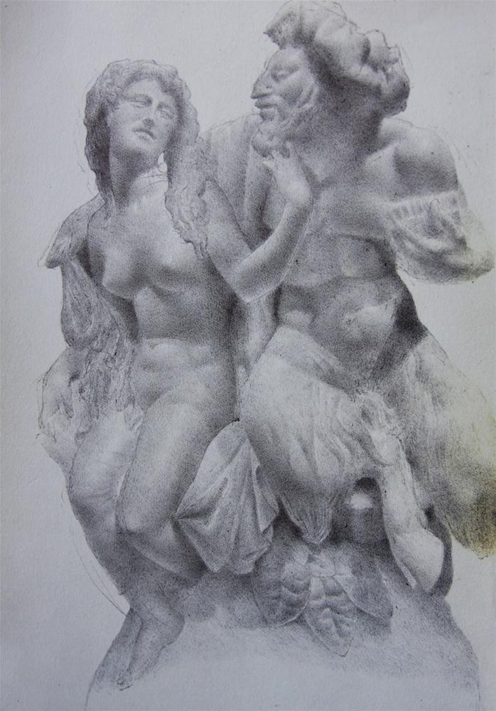 """Bacchante & Satyr"" original fine art by Jonathan Aller"