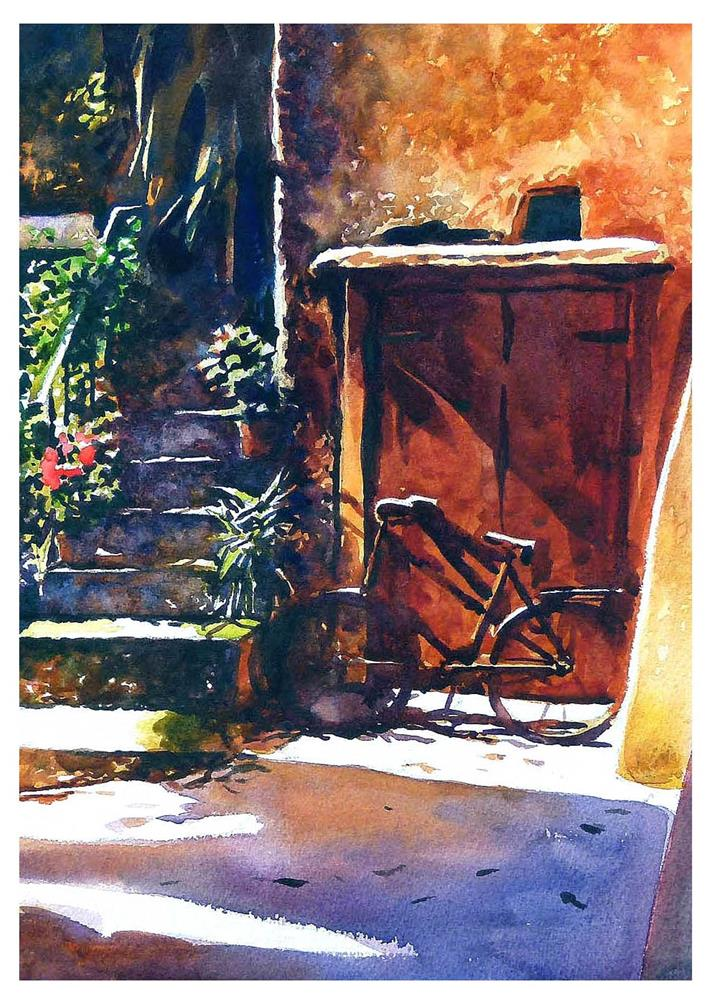 """Malcesnie bike."" original fine art by Graham Berry"
