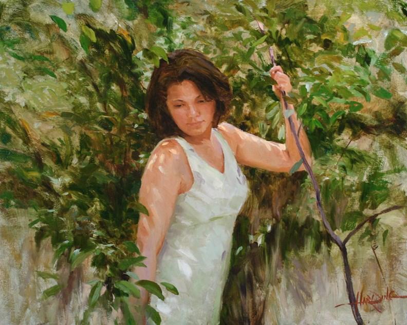 """Forest Shadows"" original fine art by Scott Harding"
