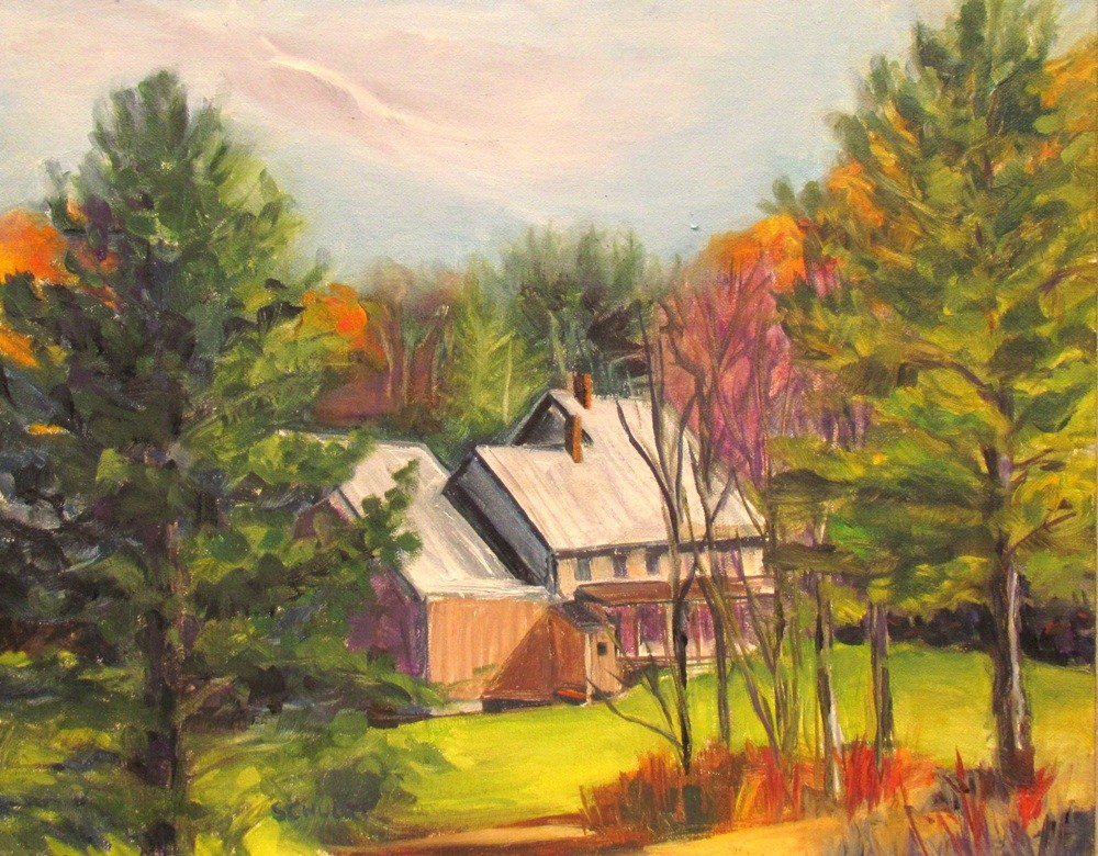 """Silver Roof in Sunlight"" original fine art by Lynne Schulte"