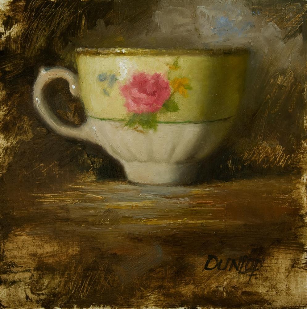 """Teacup #1"" original fine art by Bobbi Dunlop"