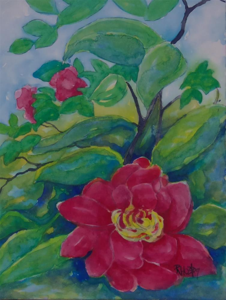 """Botanical Garden 25"" original fine art by Richard Huston"
