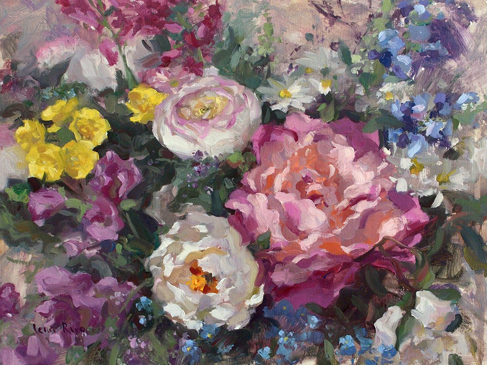 """Fresh Flowers"" original fine art by Lena Rivo"